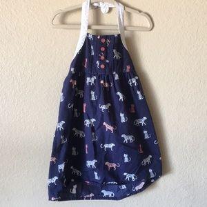 Cat print halter dress